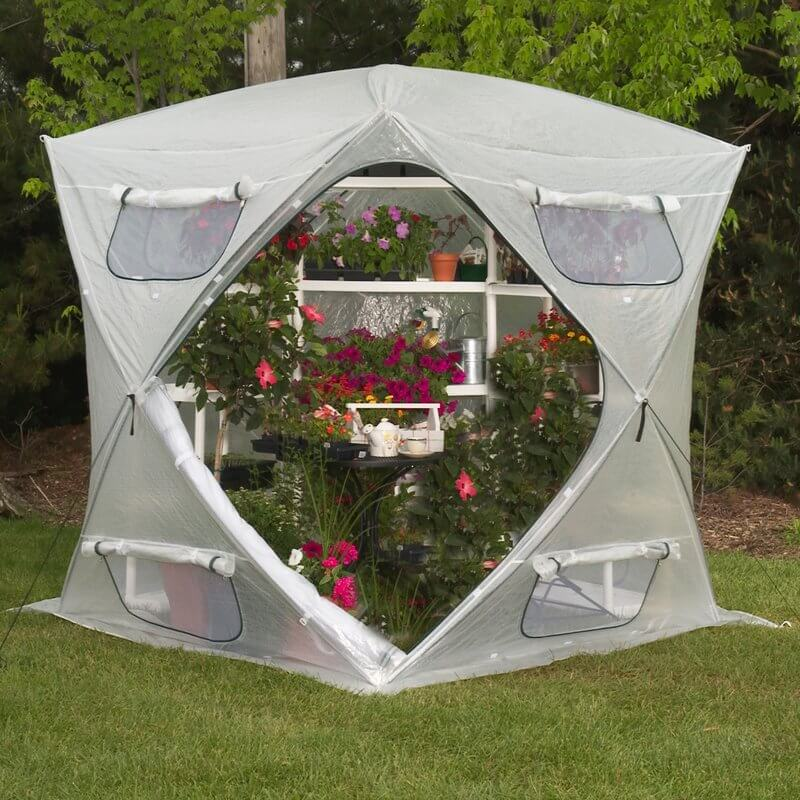 Hemispherical Dome Greenhouse