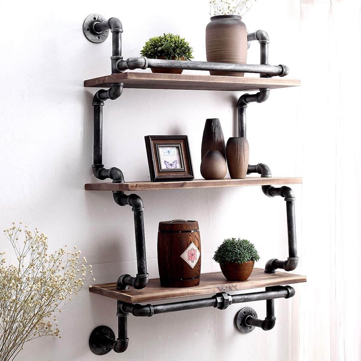 Intricate Pipe Shelf
