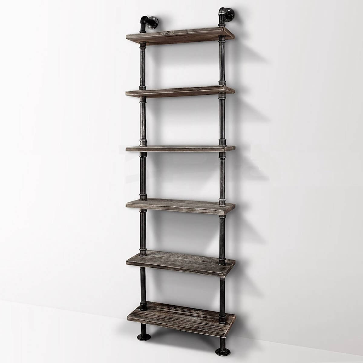 Ladder Style Pipe Shelves