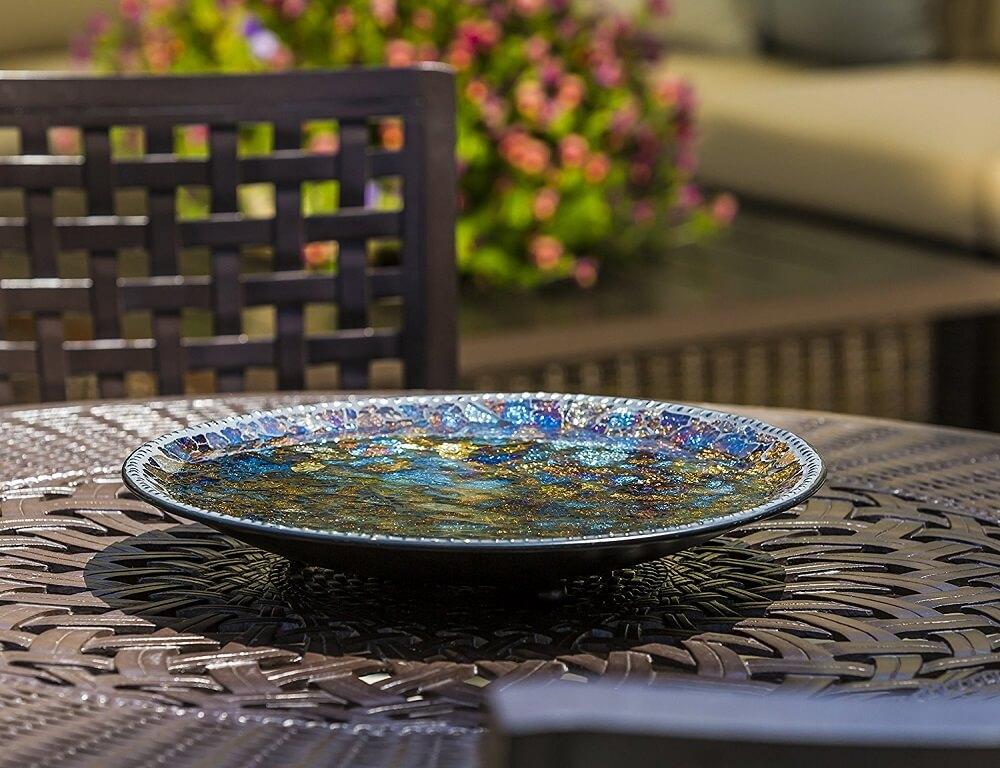 Mosaic Bird Bath Bowl