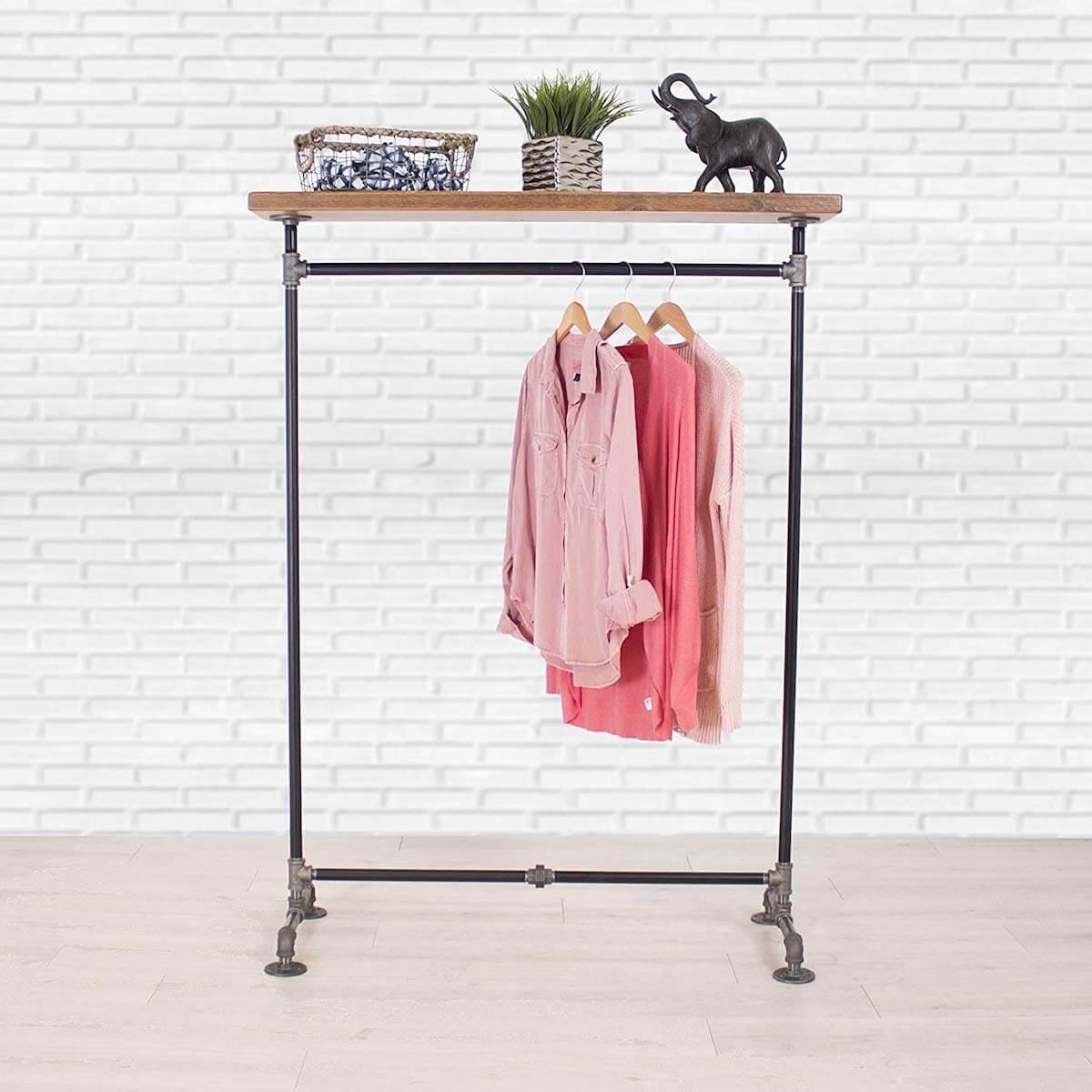Pipe Shelf Clothing Rack