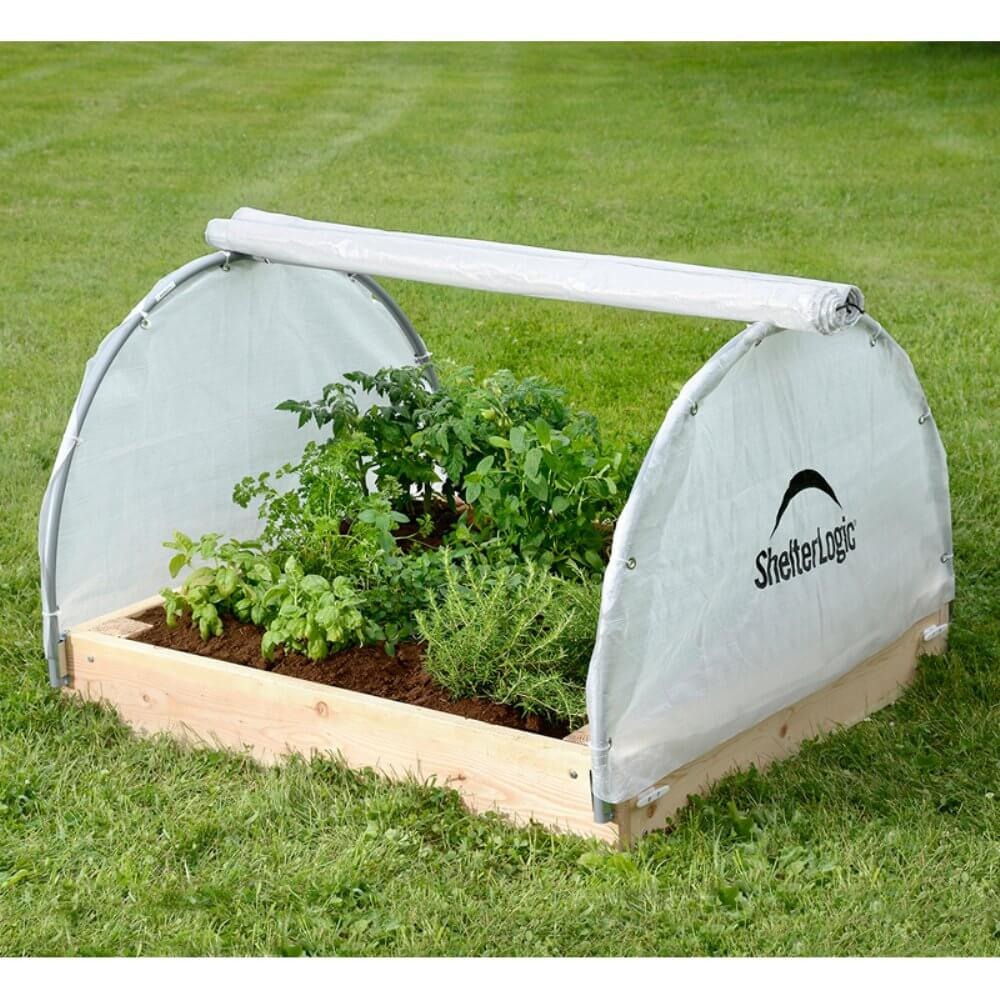 Small Round Raised Bed Greenhouse