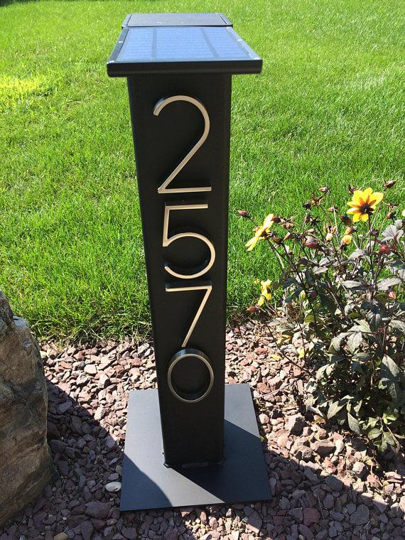 Solar Light Address Sign