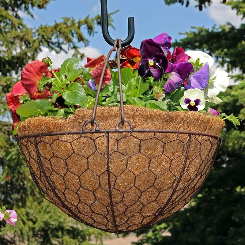 Steel Wire Hanging Planter