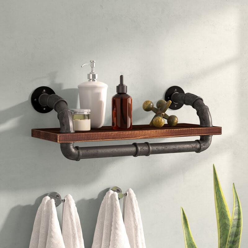 Walnut Pipe Shelf