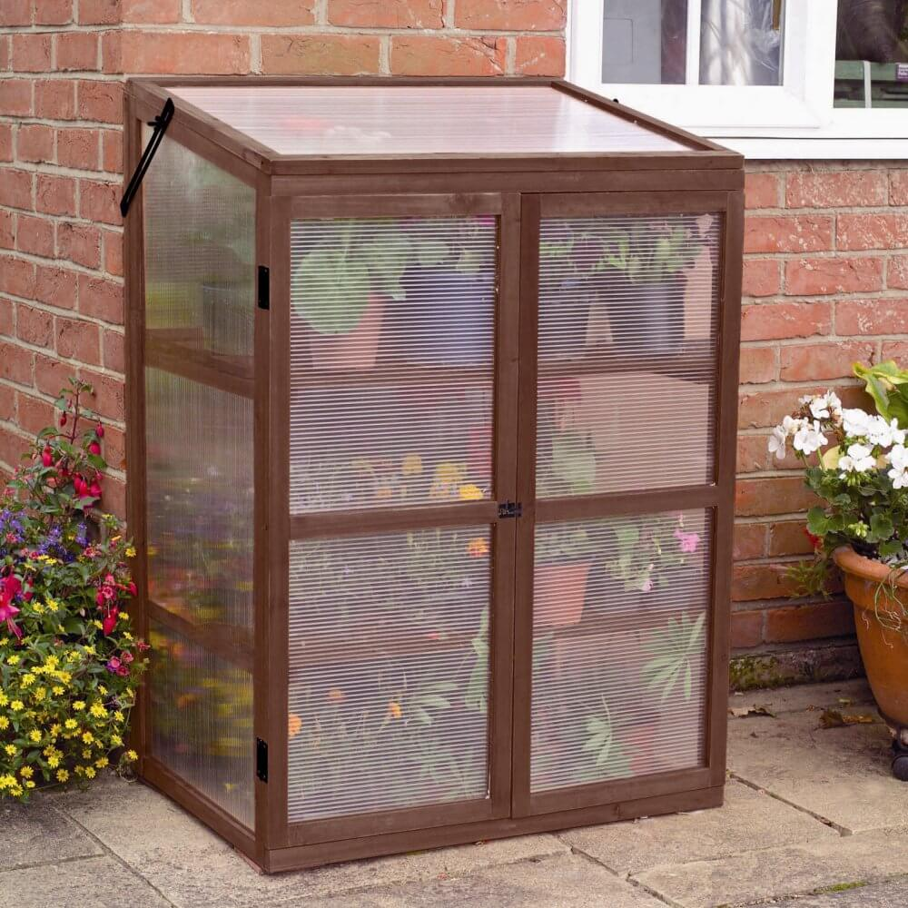 Wooden Shelved Greenhouse