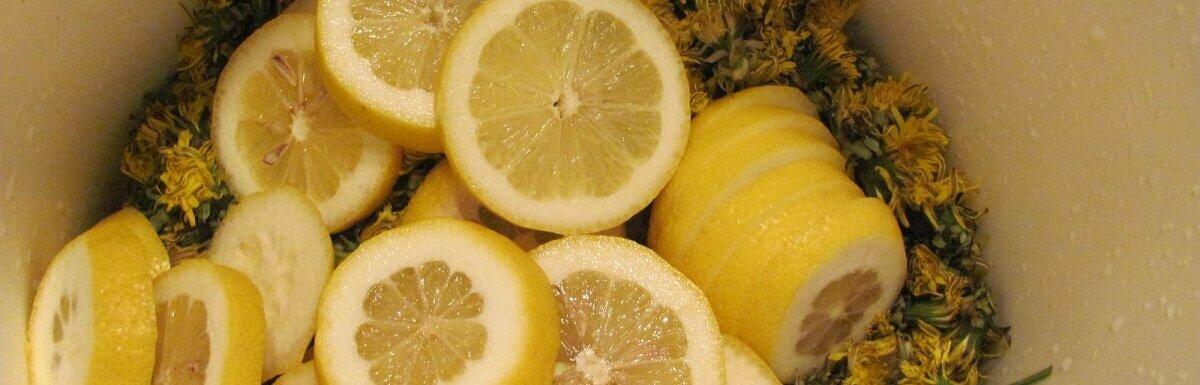 dandelion and lemon wine