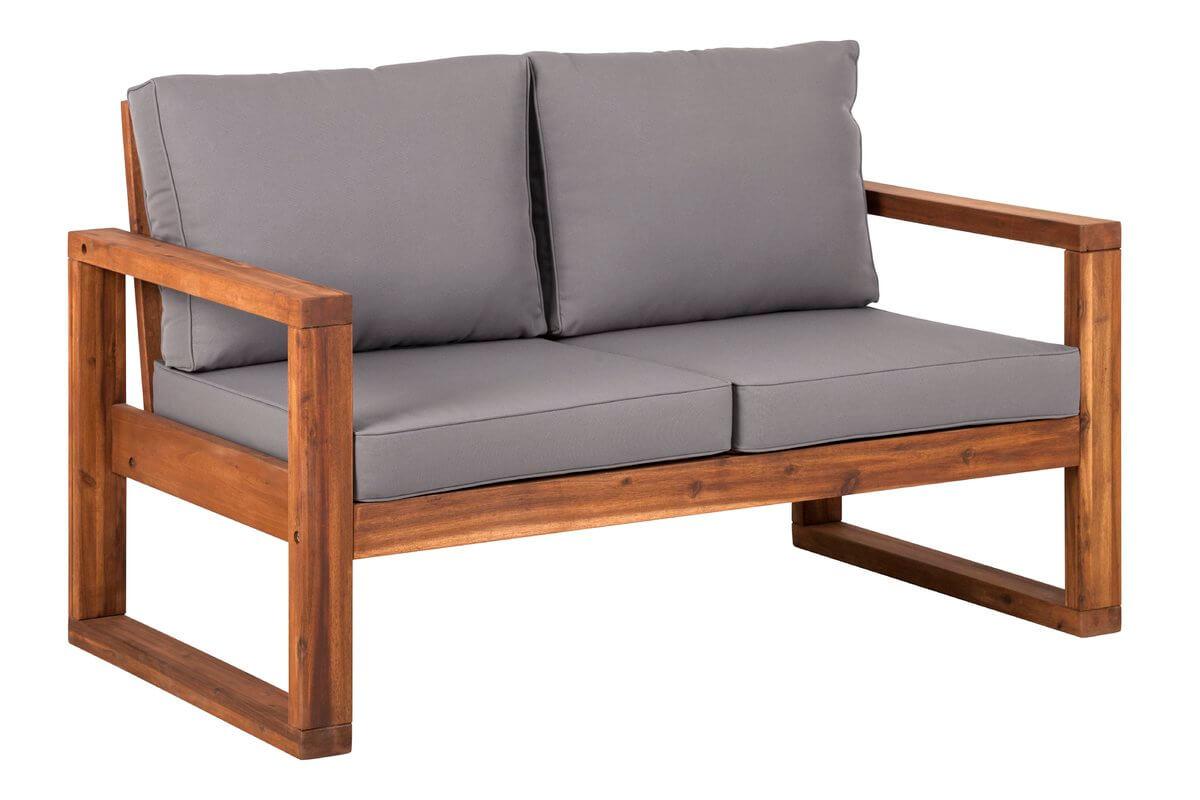 Acacia Wood Outdoor Sofa