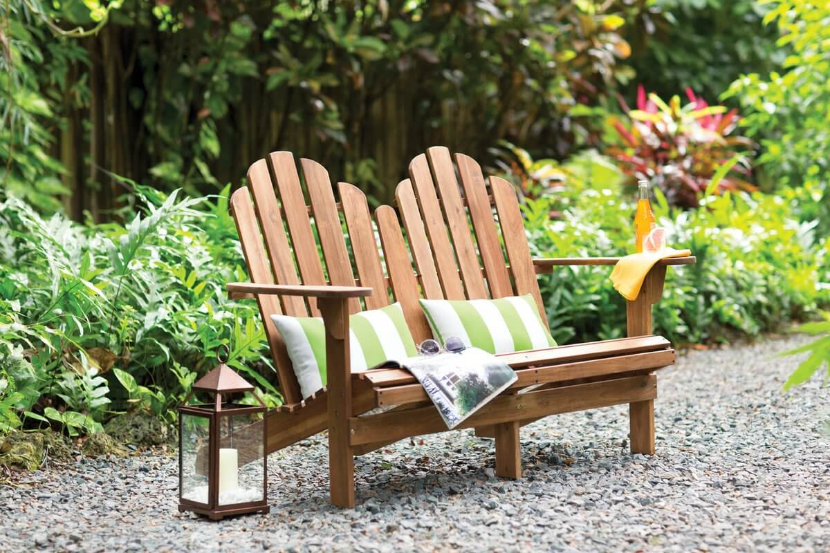 Adirondack Chair Outdoor Bench