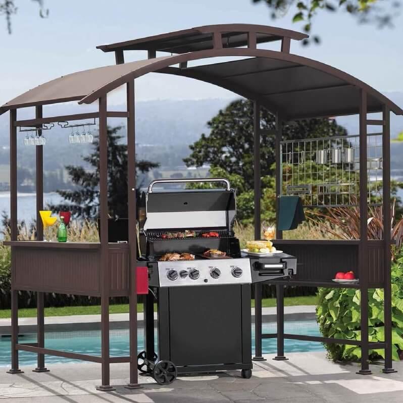 arched grill gazebo