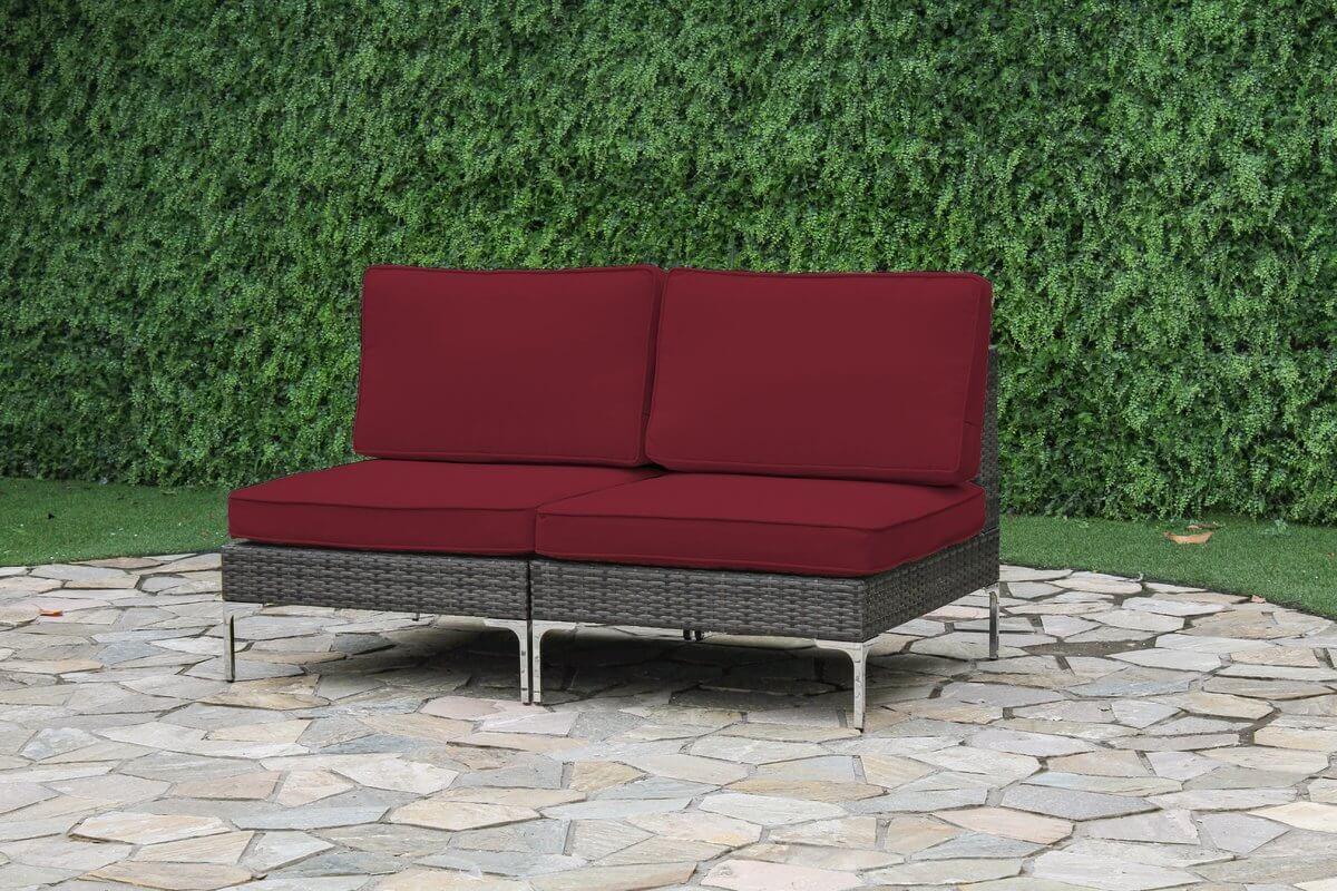 Armless Loveseat Outdoor Sofa