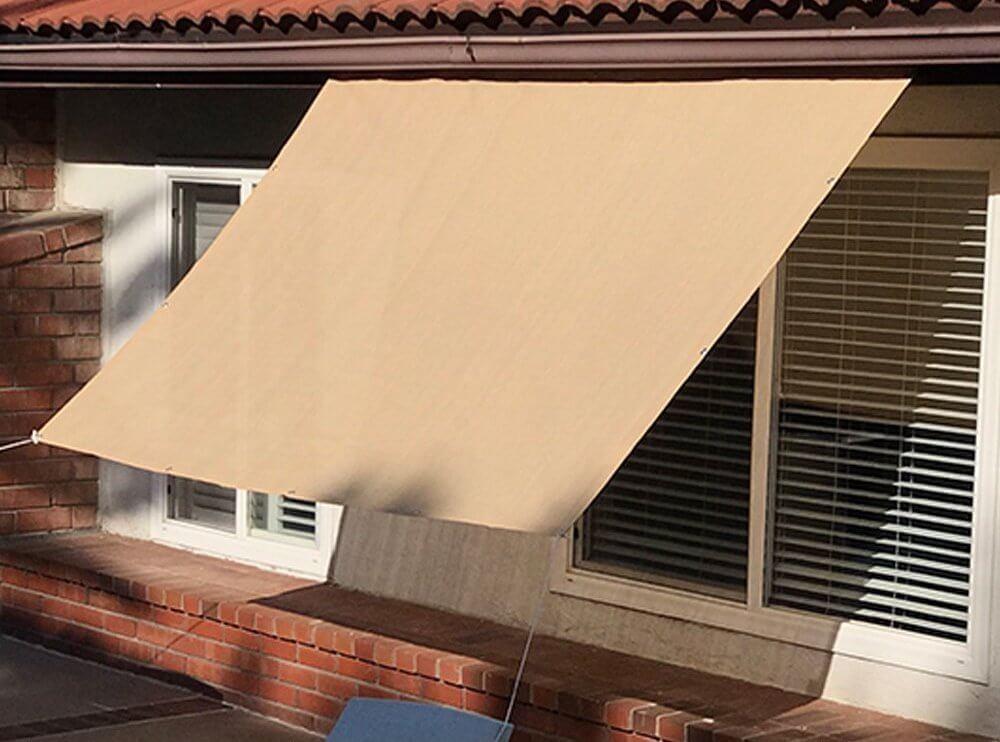 beige pergola shade canopy