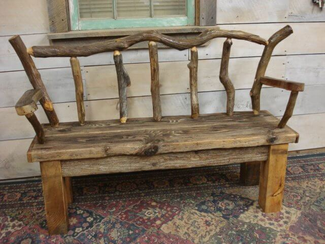 Driftwood Outdoor Bench