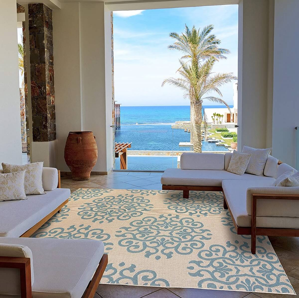 Extra-large Contemporary Outdoor Rug