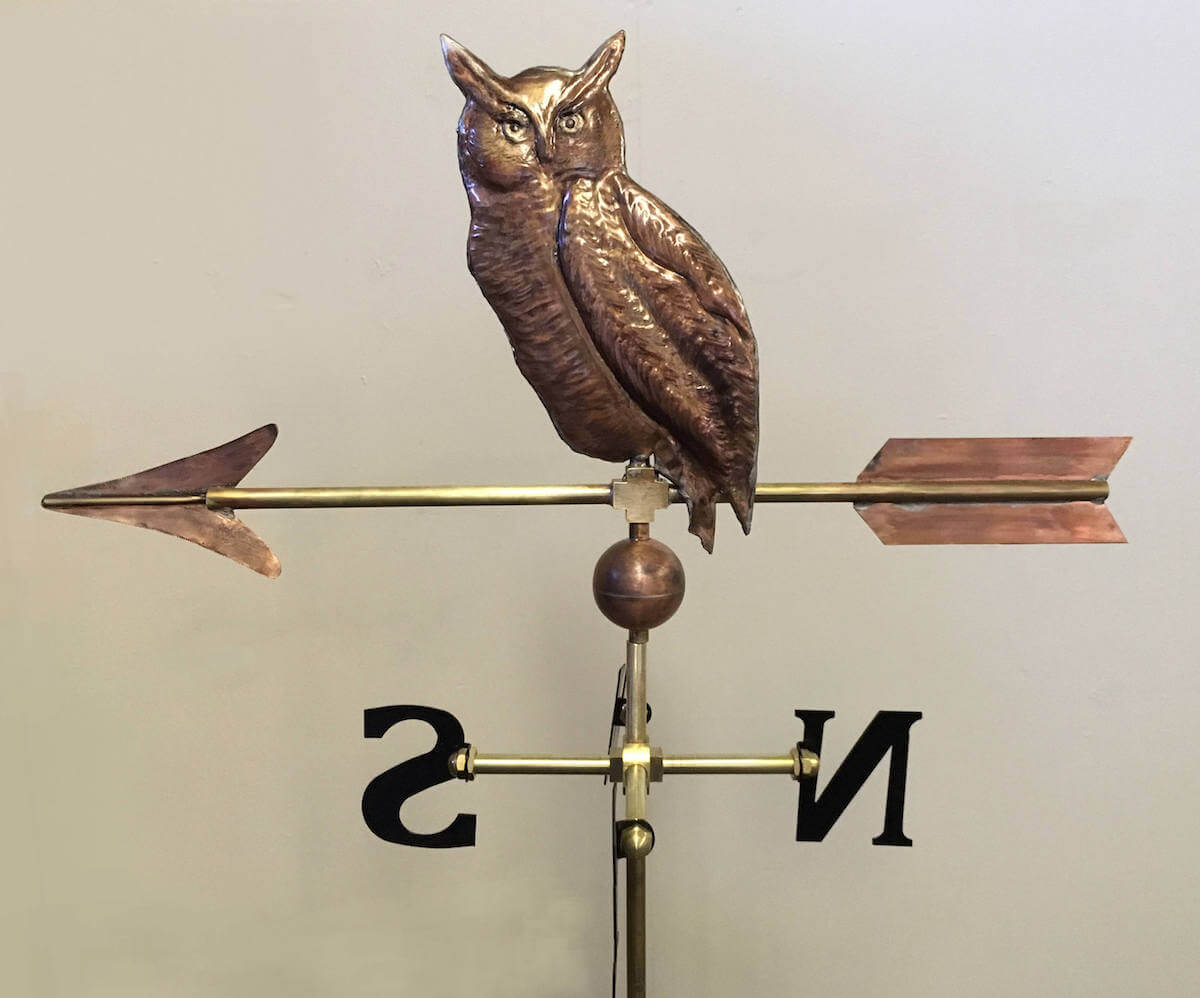 Great Horned Owl Weathervane