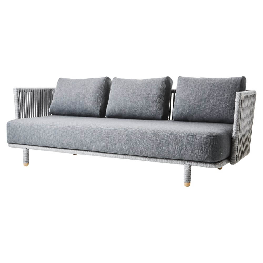Grey 3 Seater Outdoor Sofa