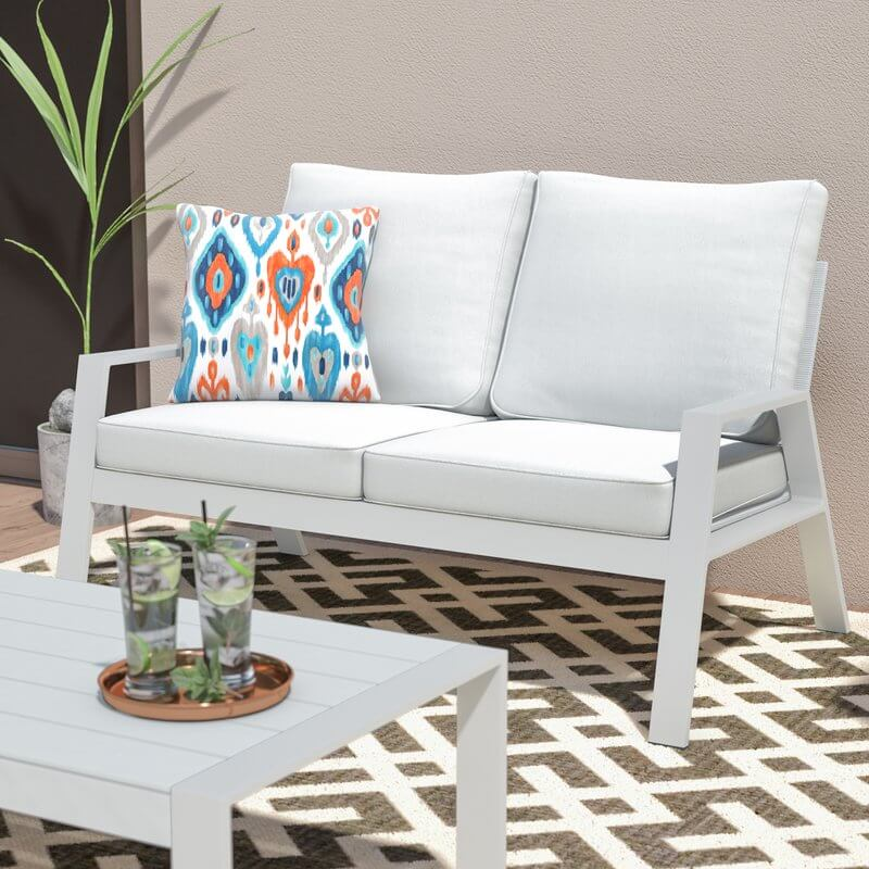 Light Gray Outdoor Sofa
