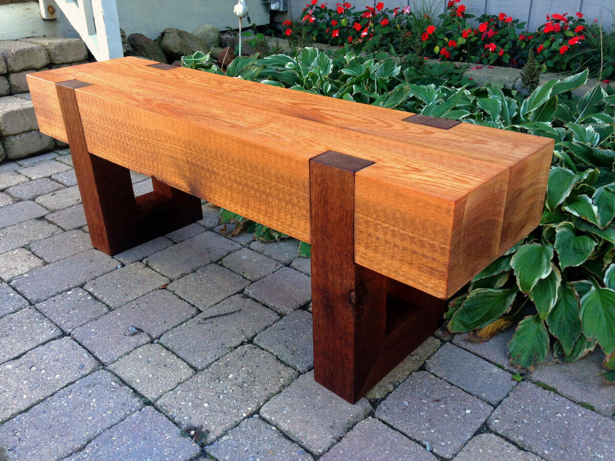 Modern Outdoor Bench