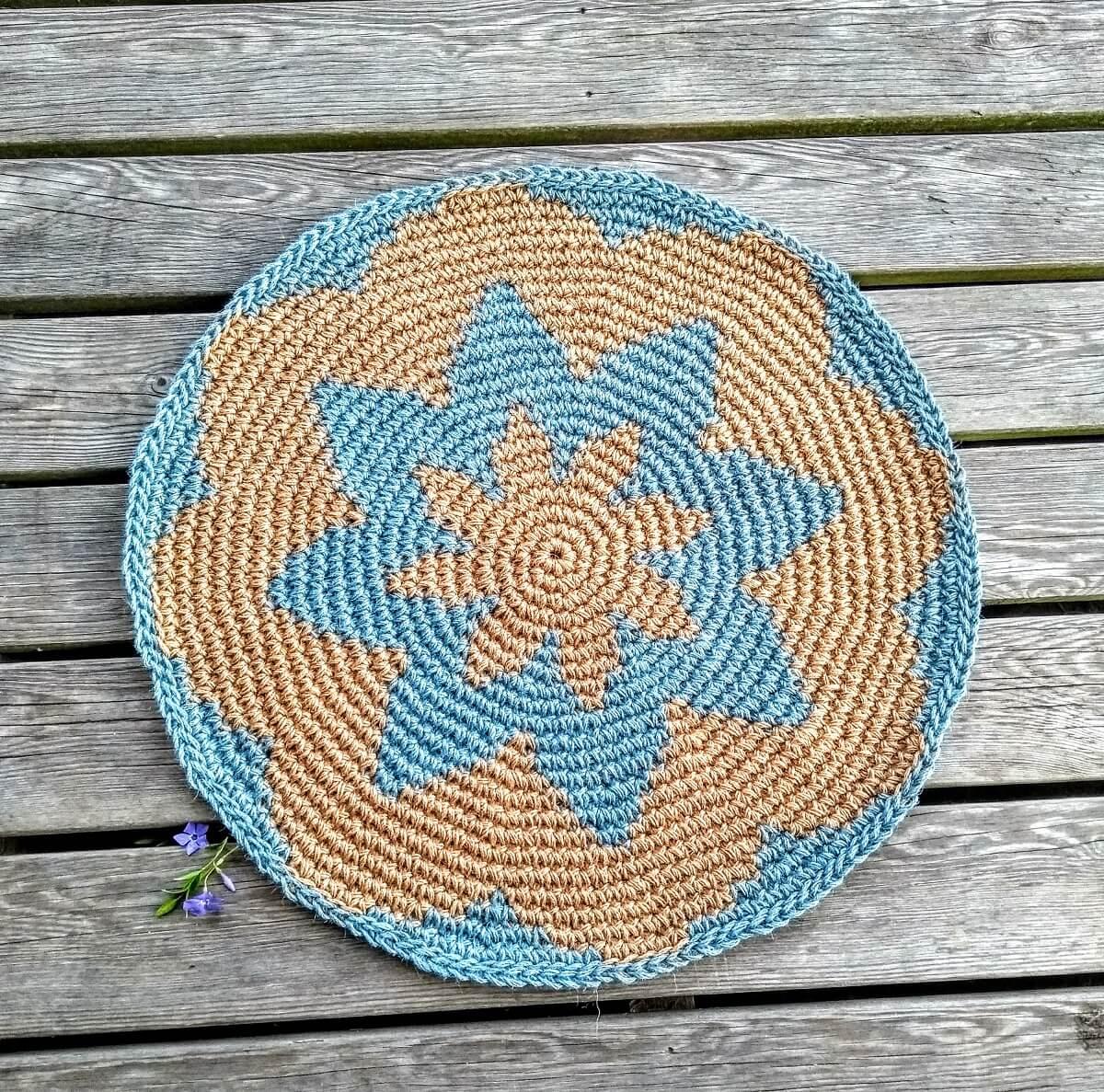 Round Jute Outdoor Rug