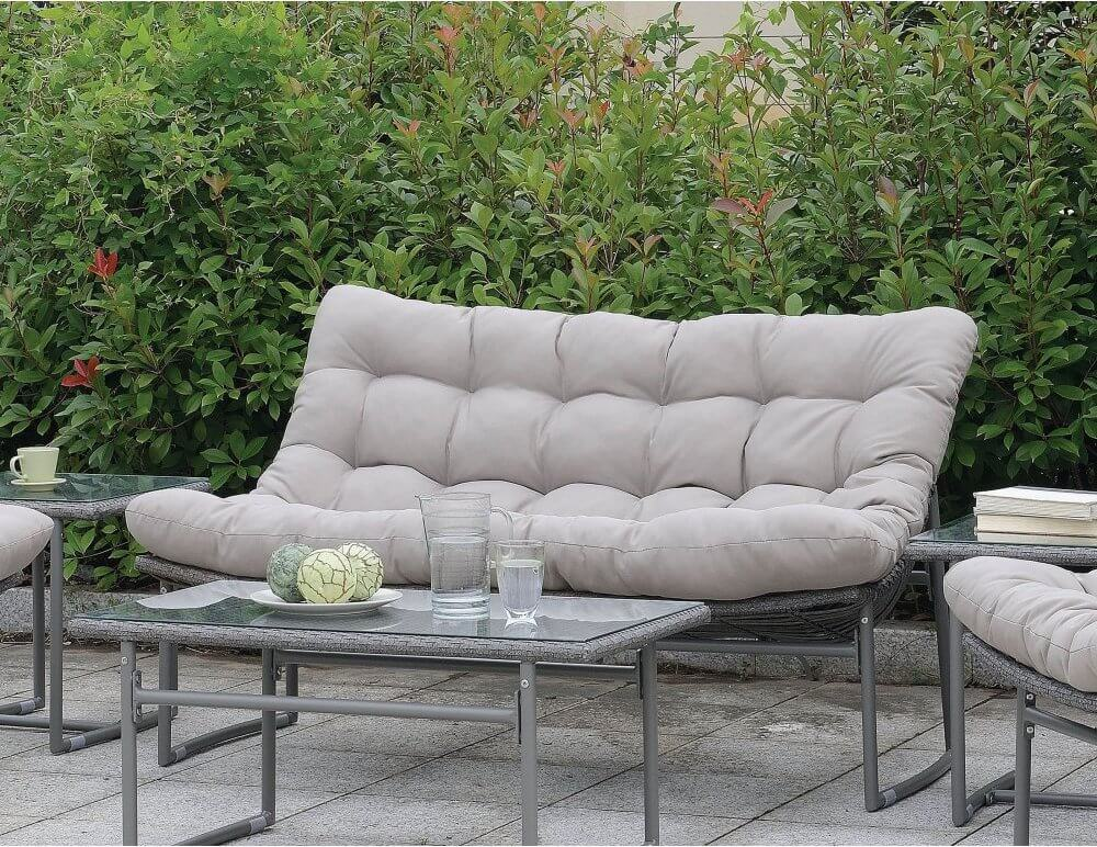 Rounded Wicker Outdoor Sofa