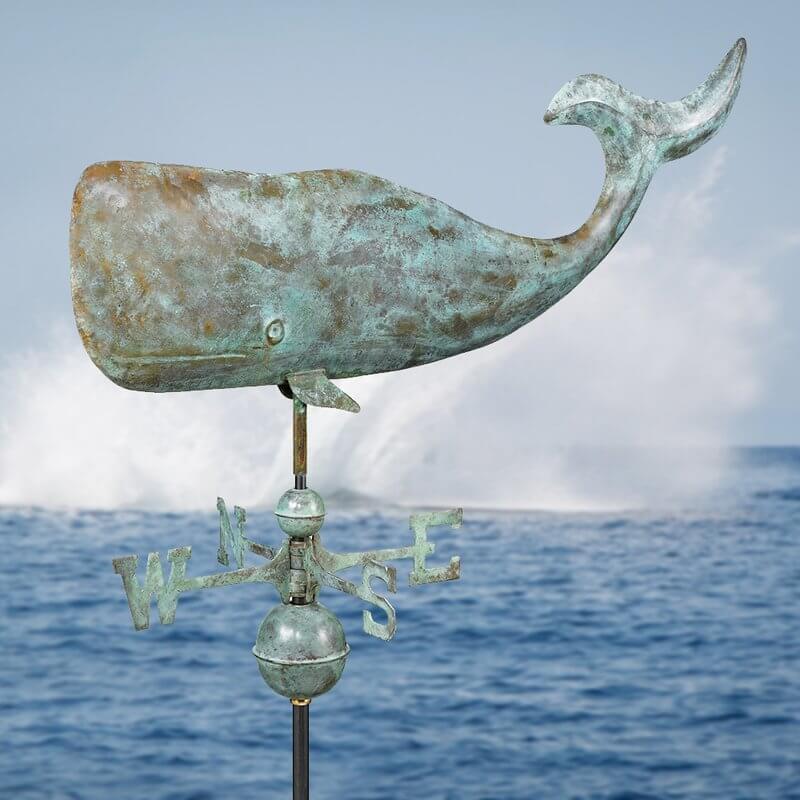 Rustic Whale Weathervane