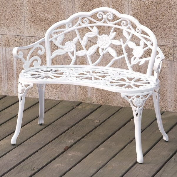 Shabby Chic Outdoor Bench