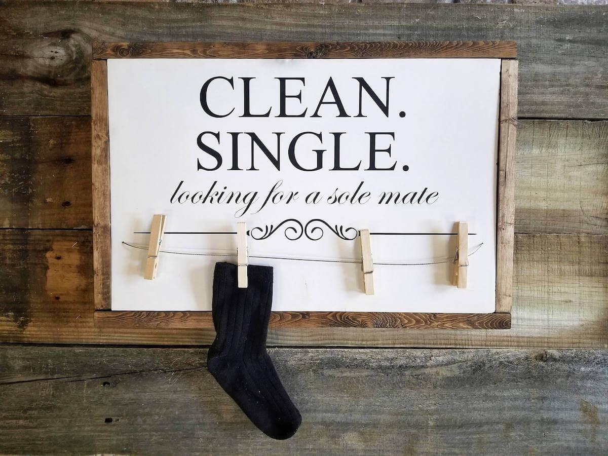 single missing sock sign