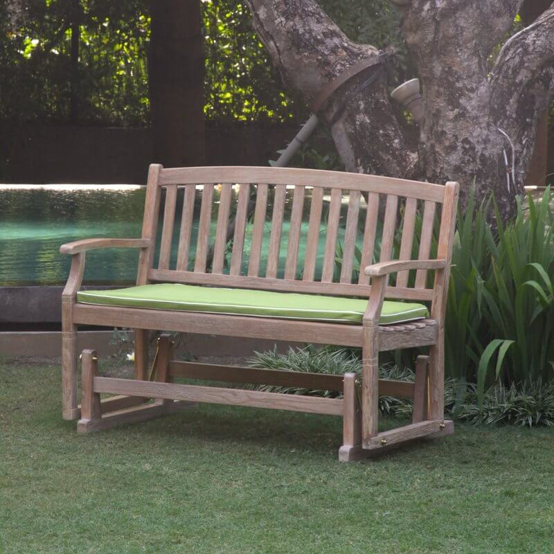 Teak Wood Gliding Outdoor Bench