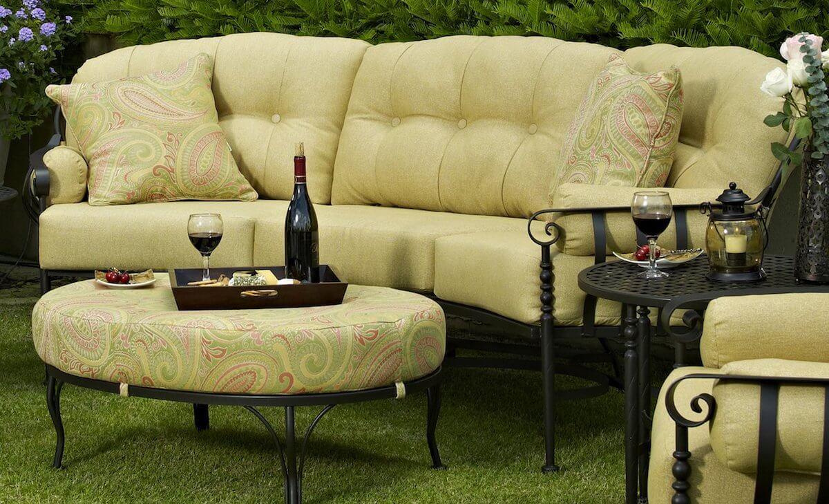 Traditional Iron Outdoor Sofa