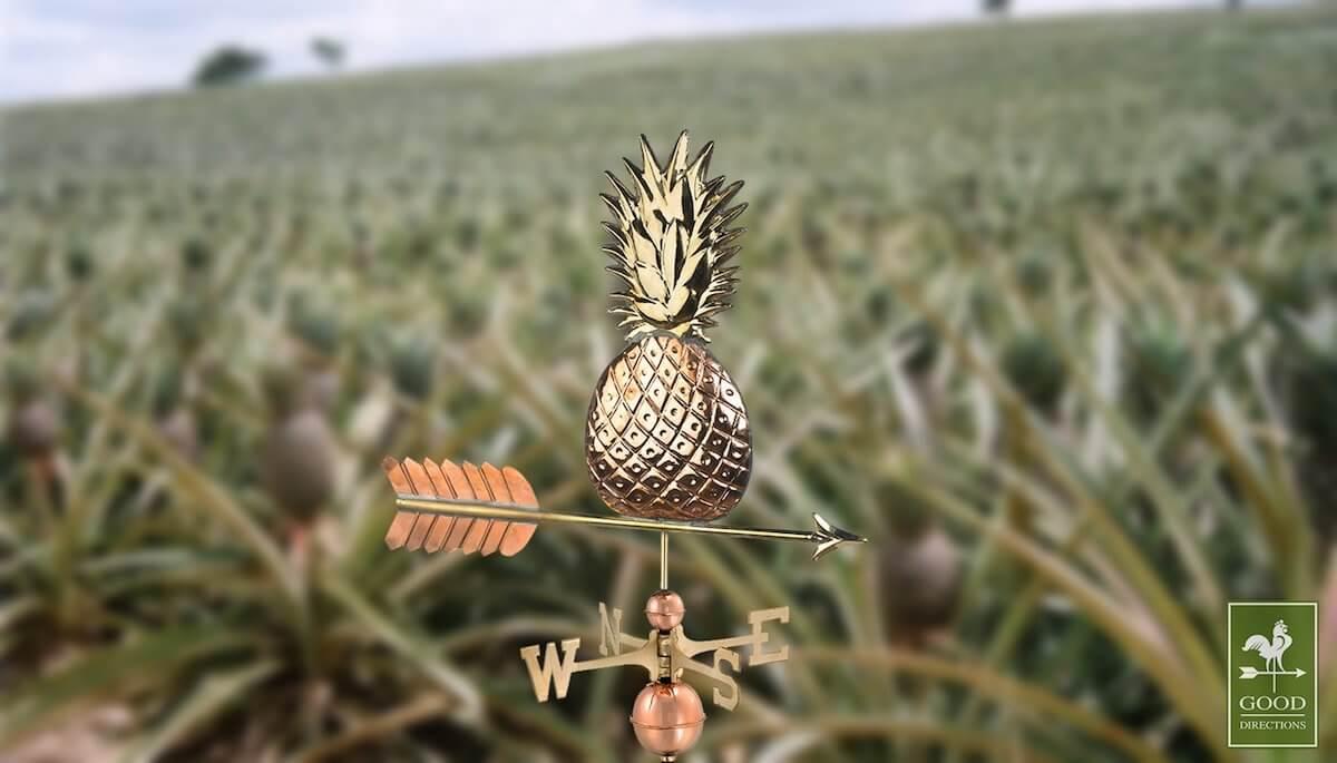 Tropical Pineapple Weathervane