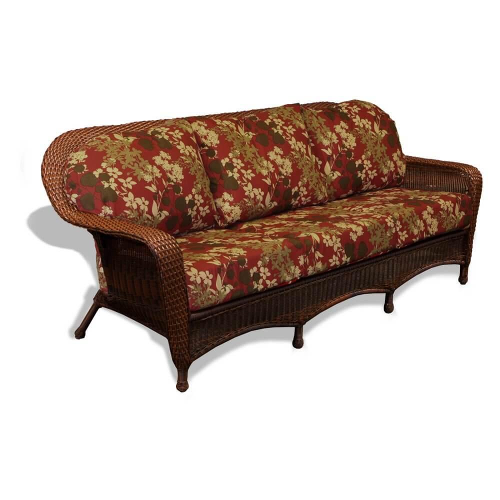 Wicker Floral Outdoor Sofa