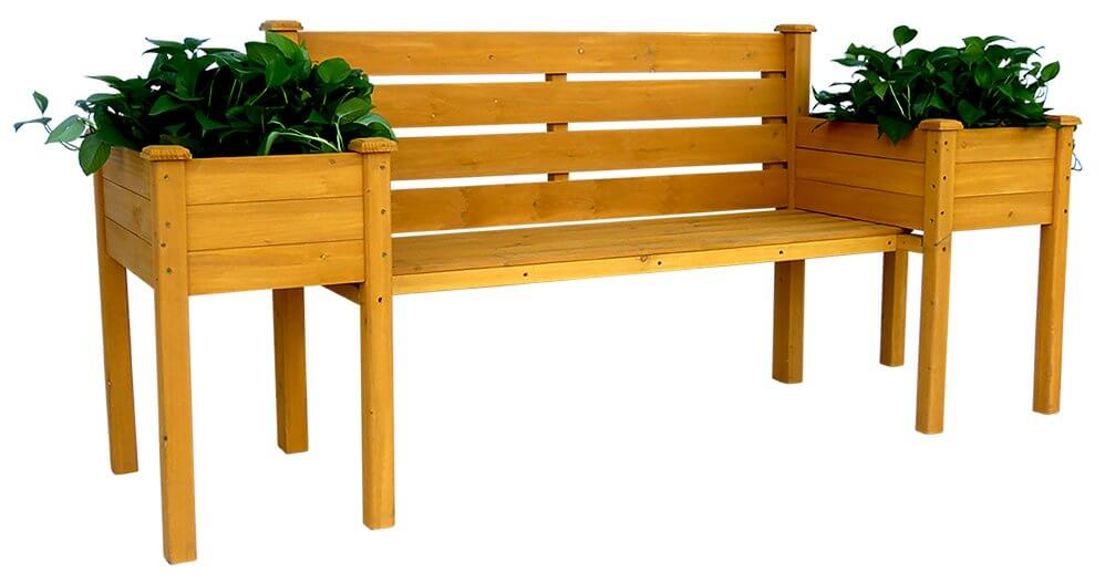 Wood Planter Outdoor Bench