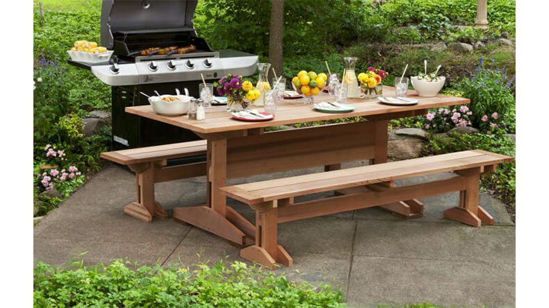 10 Foot Picnic Table and Benches Plans