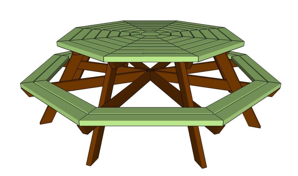 Advanced Octagon Picnic Table Plans