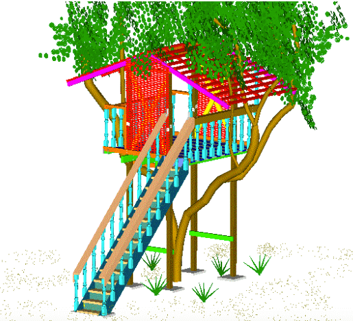 advanced tree house plans