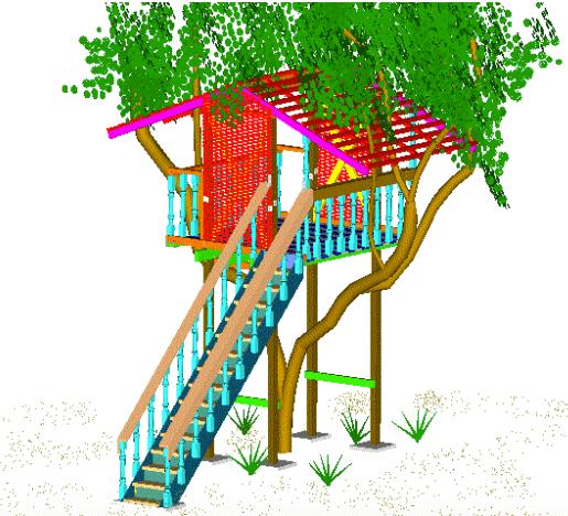 advanced tree house plans