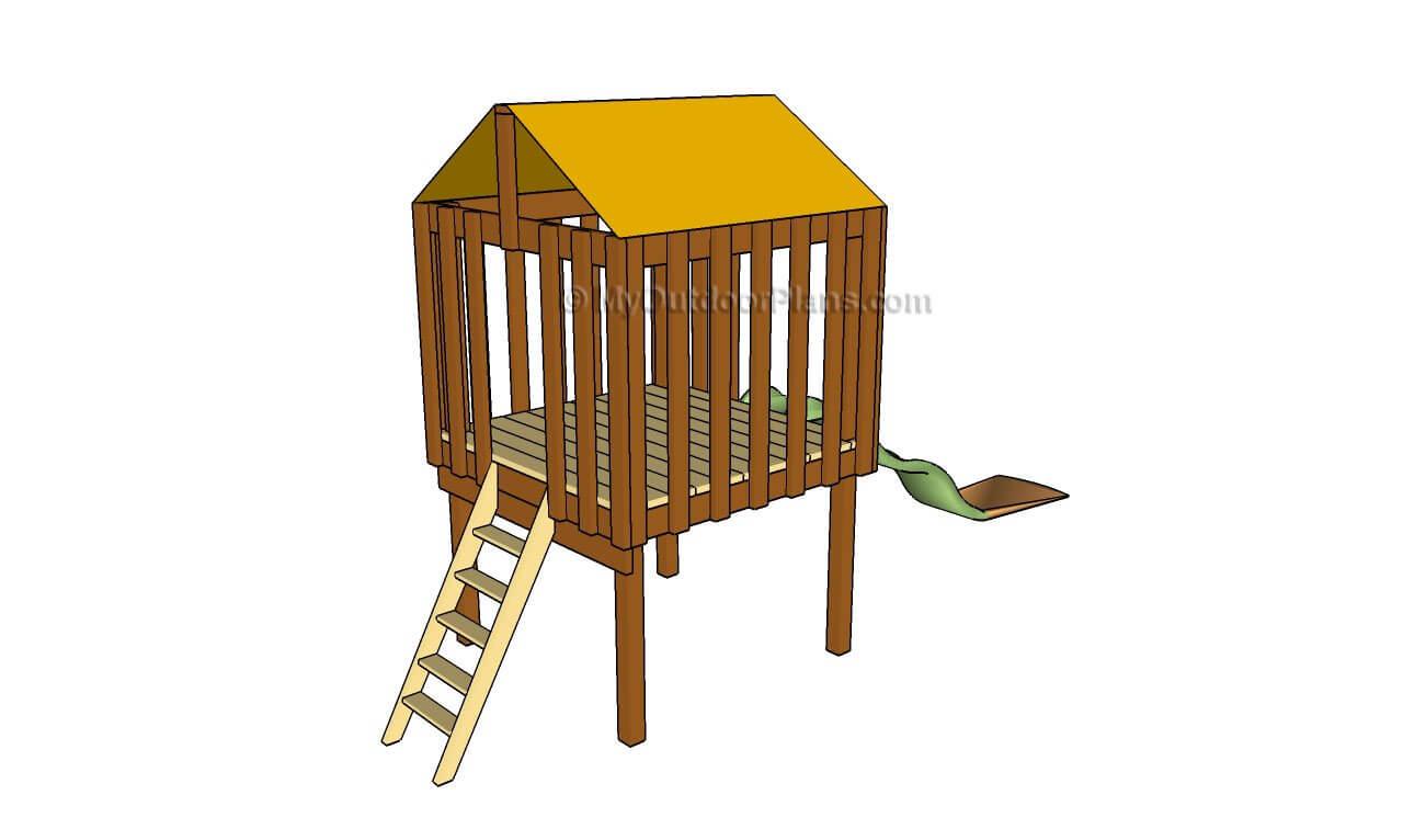 Backyard Fort Plans With Slide