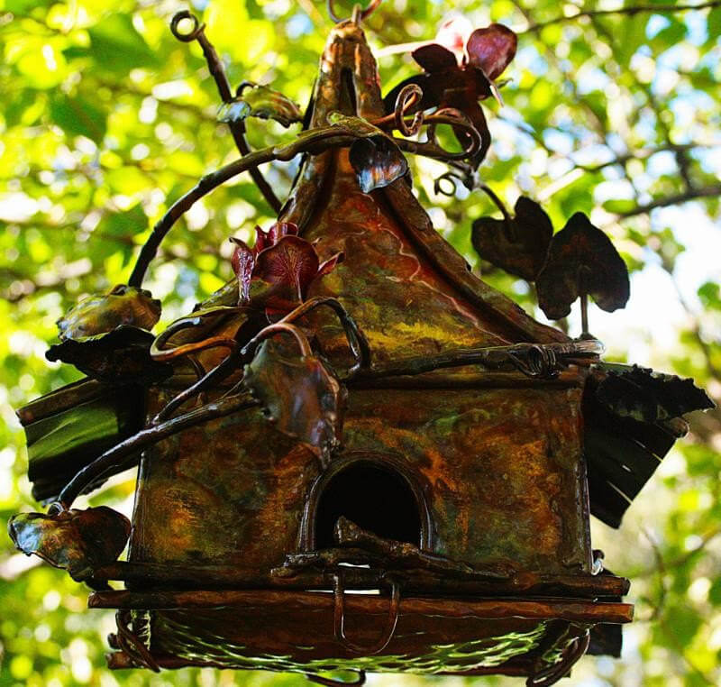 Copper Fairy Birdhouse