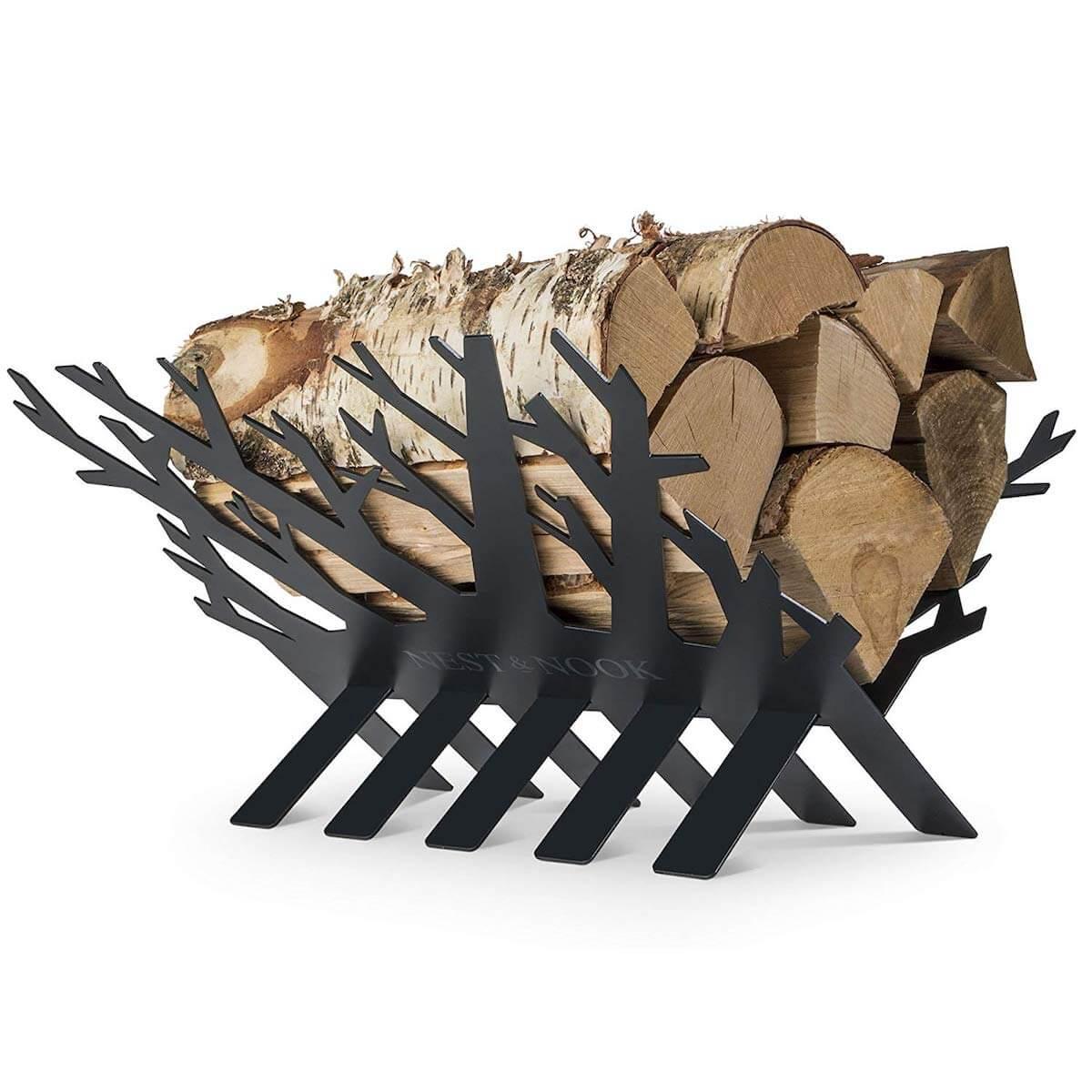 Decorative Tree Firewood Rack