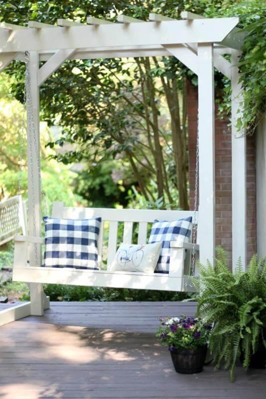 DIY Porch Swing Pergola