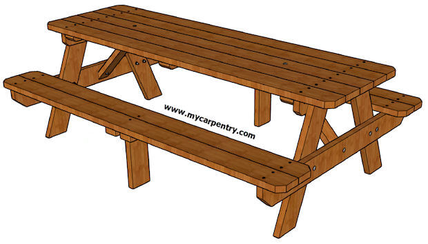 Eight-Foot Picnic Table Plans