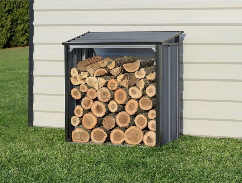 galvanized steel wood shed
