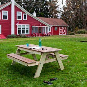 Heavy Six-Foot Picnic Table Plans