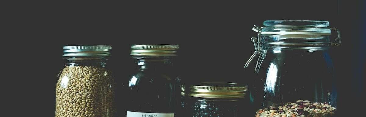 grain in jars