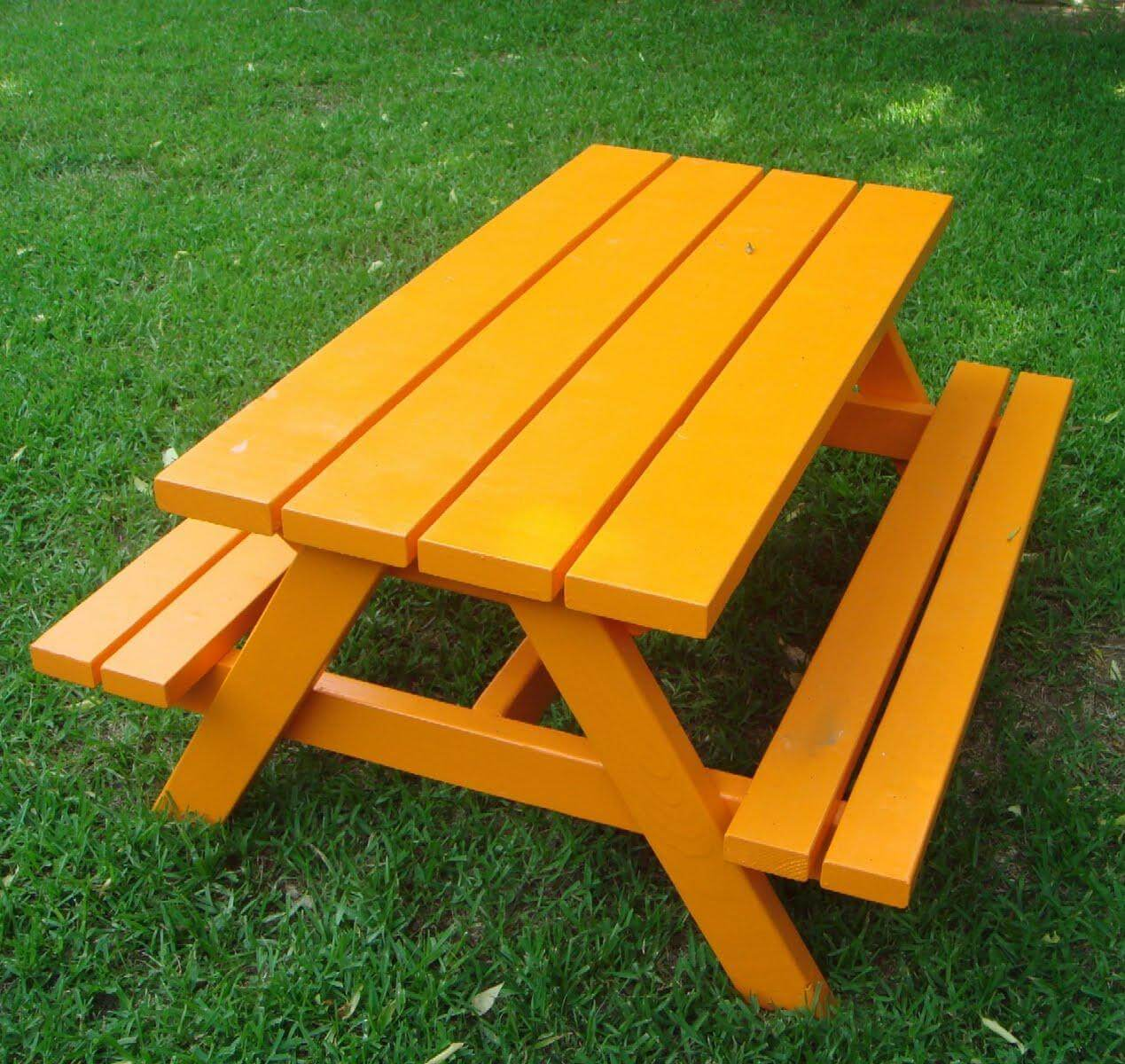Larger Child-Sized Picnic Table Plans