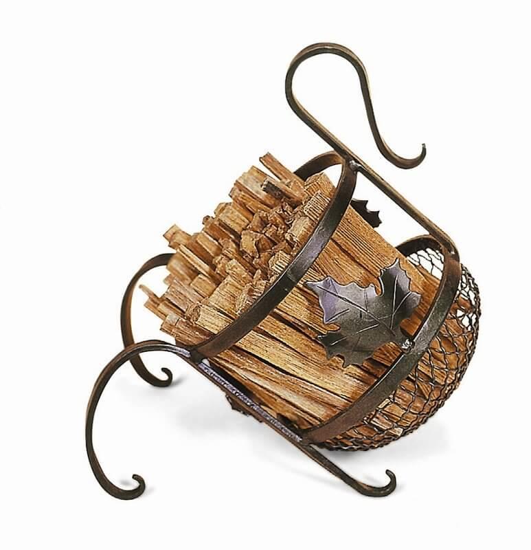 Maple Leaf Log Rack