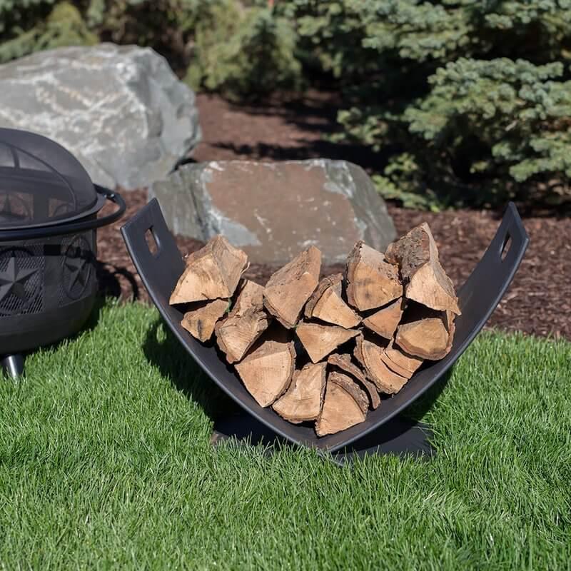 Minimalist Firewood Storage