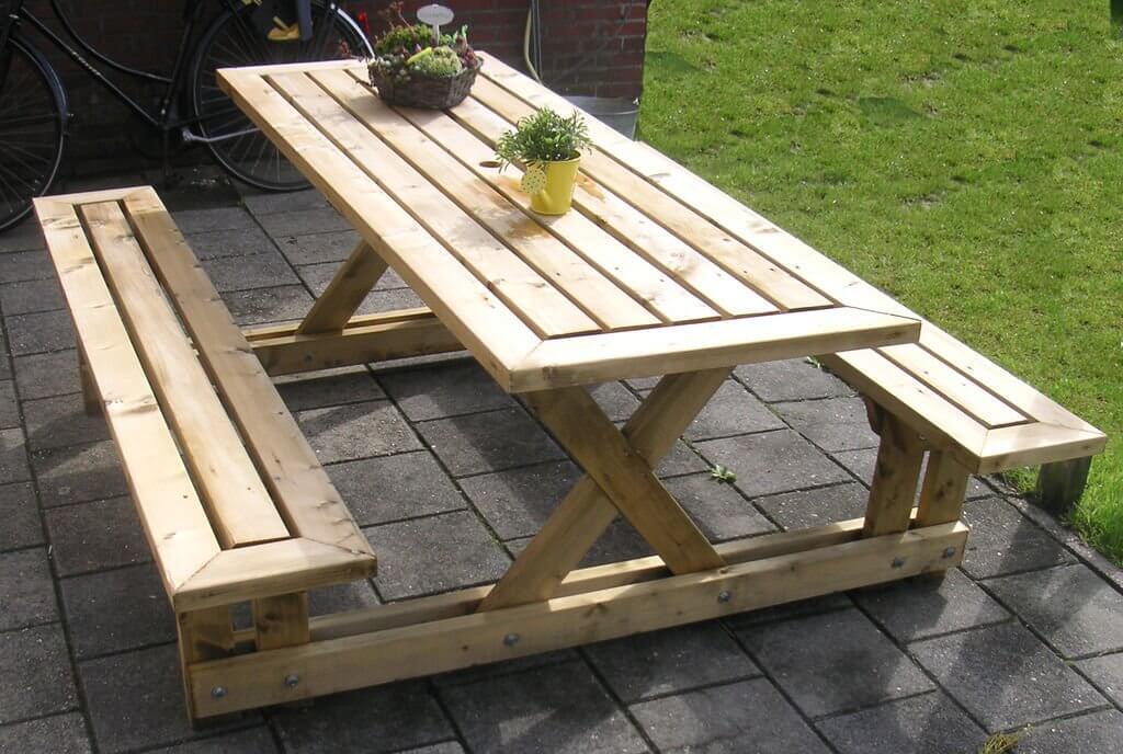 Enjoyable Picnic Table Plans Insteading Customarchery Wood Chair Design Ideas Customarcherynet