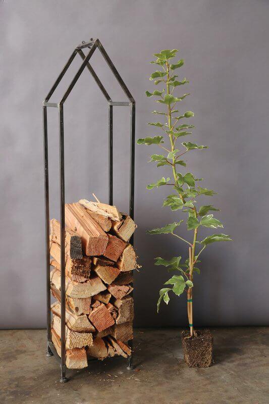 Narrow Vertical Firewood Storage