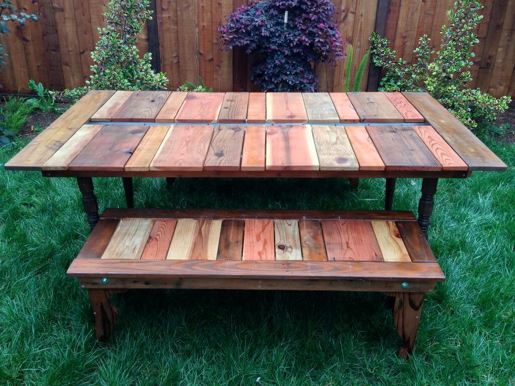 Reclaimed Wood Picnic Table Plans